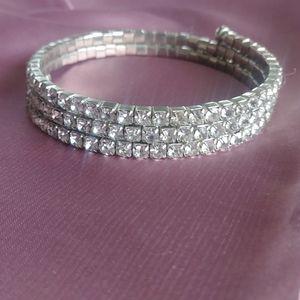 Wrap around CZ bracelet